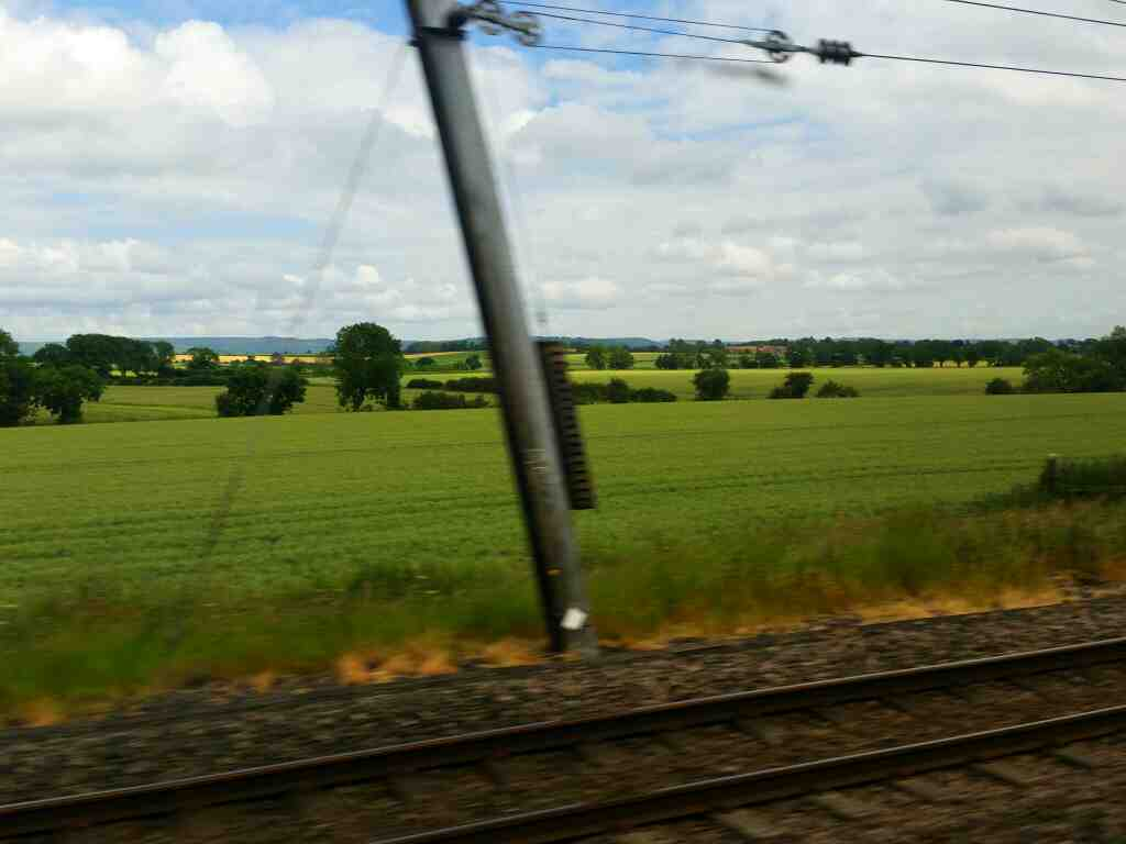 Between Otterington and Northallerton on a East Coast Train