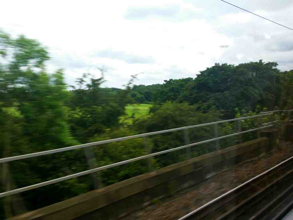 Crossing the river Tees on an East Coast London to Edinburgh train just south of Hurworth Place