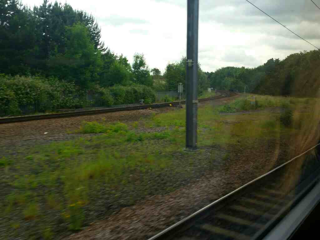 Junction of the East Coast Main Line and the Darlington to Middlesbrough line south of Darlington station