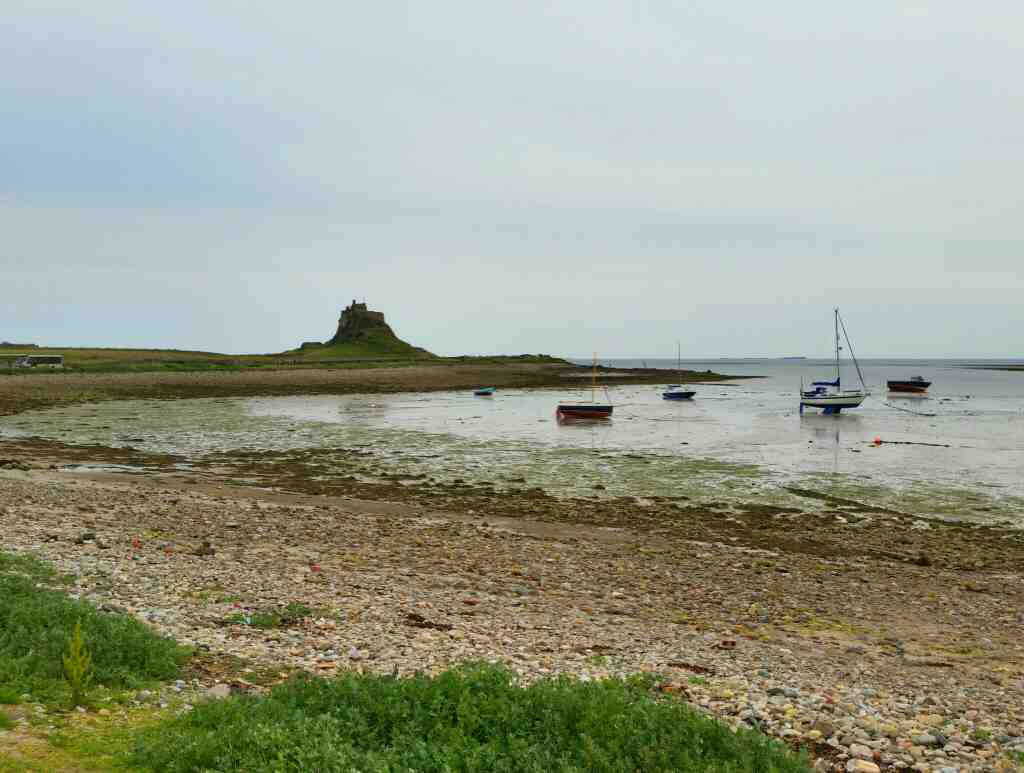 A view of Lindisfarne Castle Holy Island Northumberland