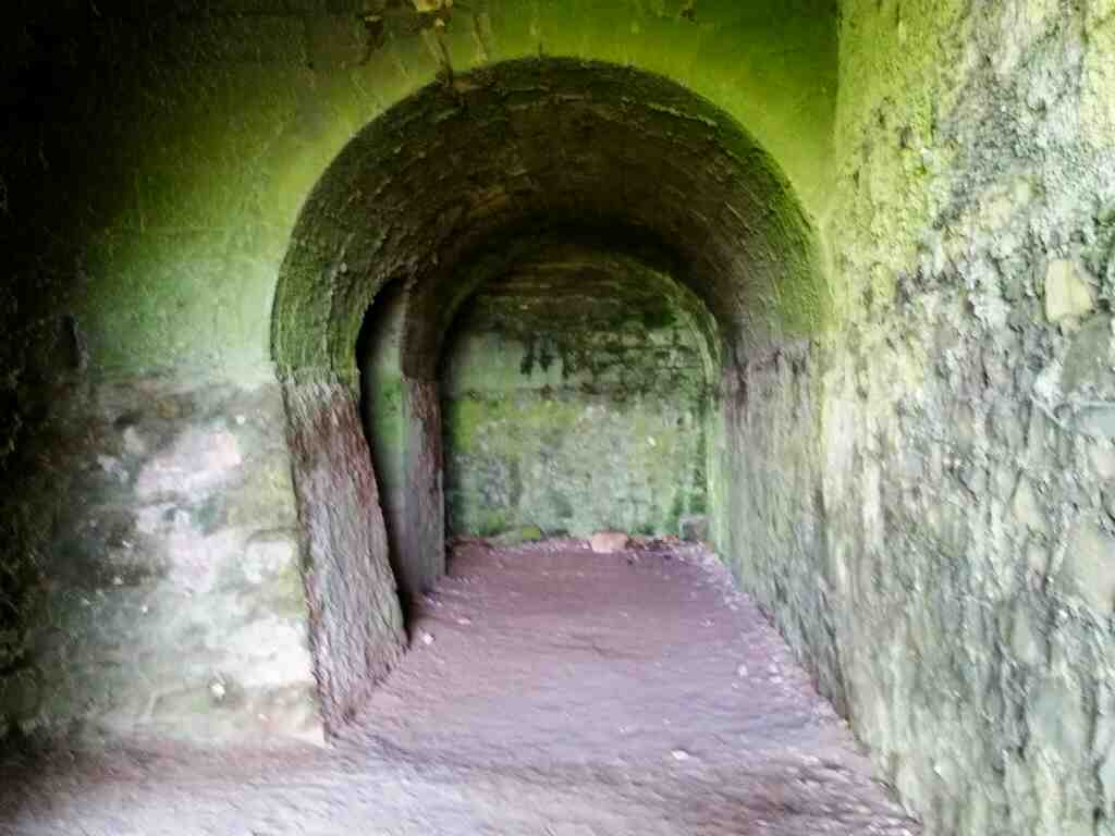 Inside the lime kilns Lindisfarne Castle Holy Island Northumberland