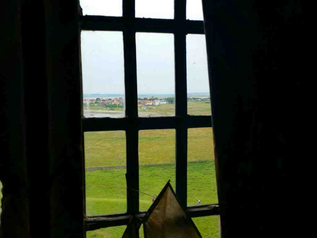Holy Island Village from the upper gallery Lindisfarne Castle Holy Island Northumberland
