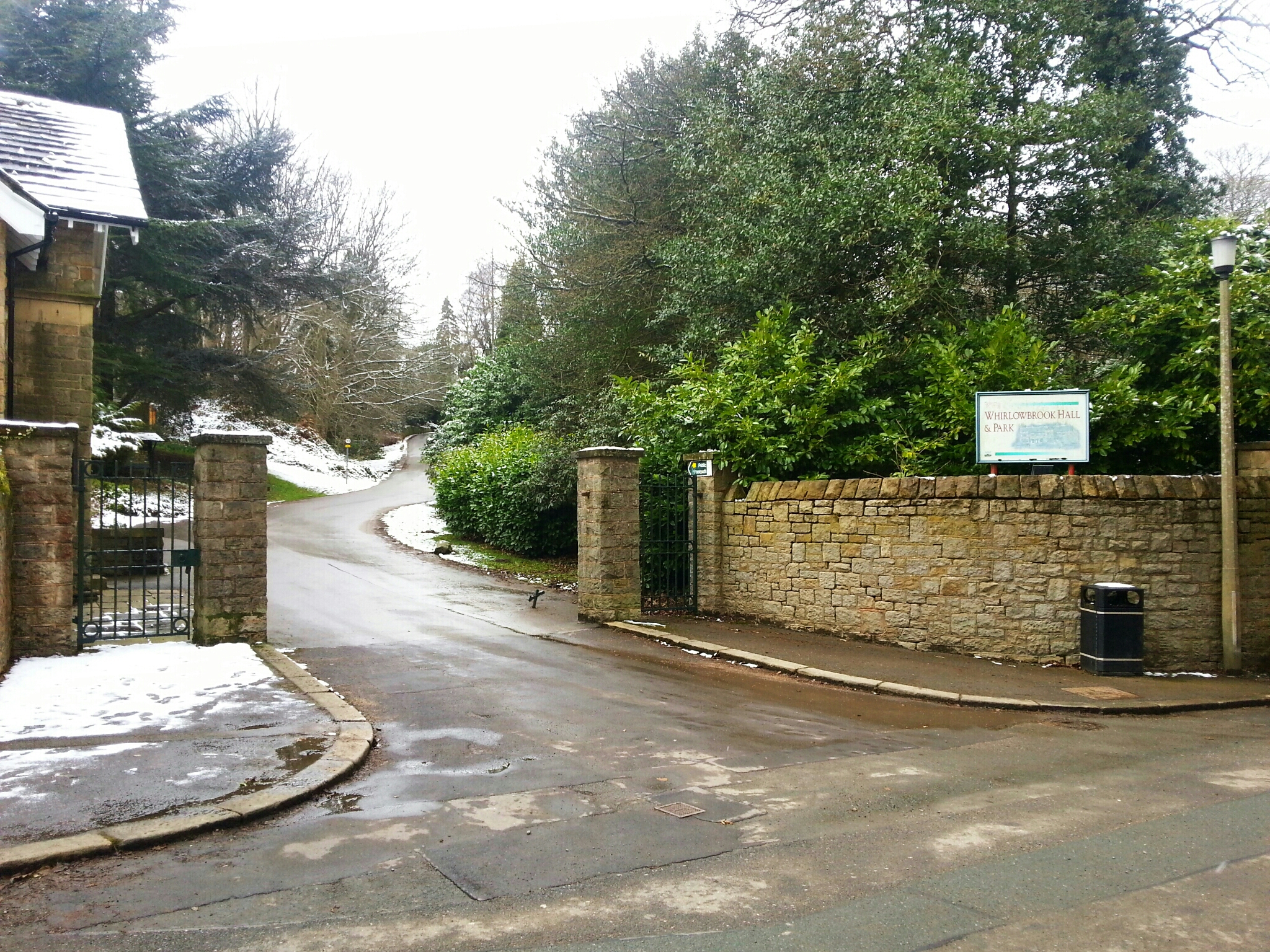 The entrance to Whirlow Brook Park.