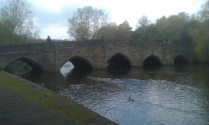 The bridge over the river Wye at Bakewell