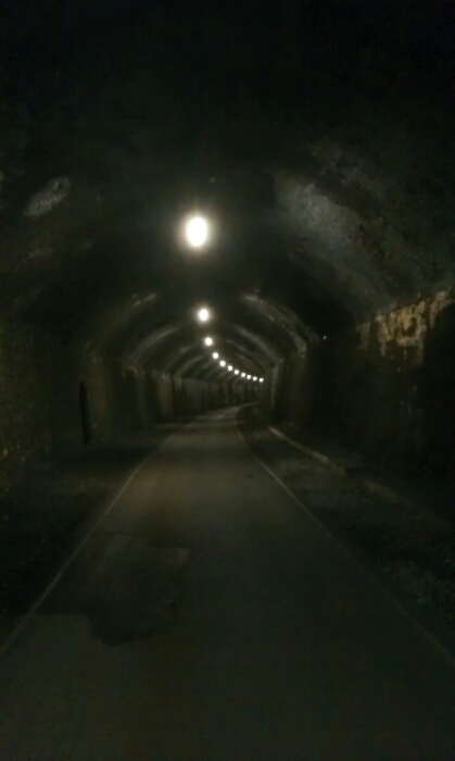 Inside Litton tunnel.