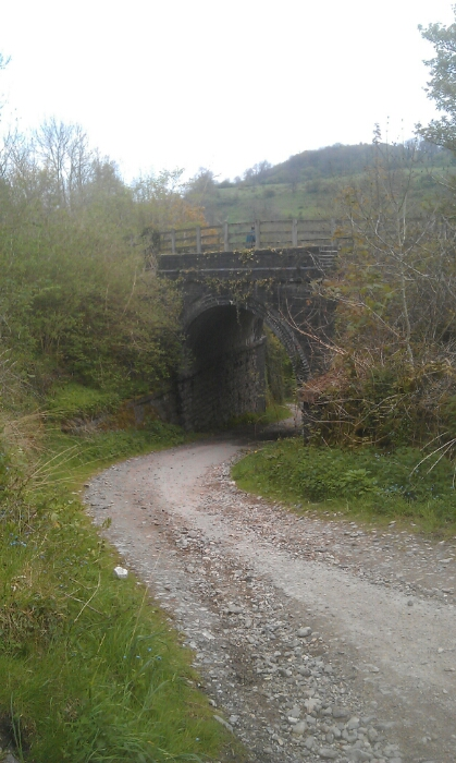 Bridge over the lane leading up to Monsal Dale staition