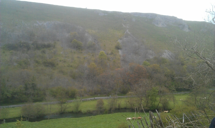 View across Monsal Dale from. the. trackbed.