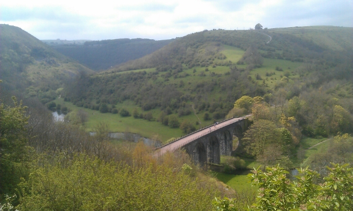 View of the Monsal viaduct from Monsal Head.